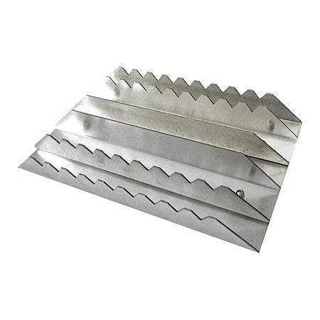 Almohaza de aluminio rectangular