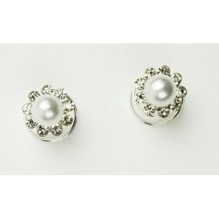 Perlas flor para crin