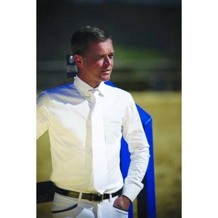 Camisa de hombre de algodón Equi-Thème de manga larga