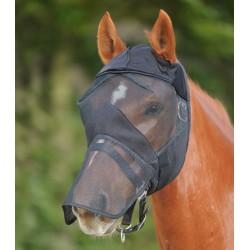 Máscara anti-moscas Premium con protección de nariz y sin orejas