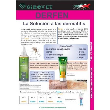 Derfen Orifinal loción para la dermatitis estival del caballo
