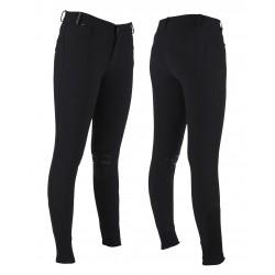 Pantalones de equitacion Luc para niños con grip de rodilla de QHP