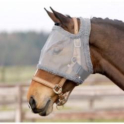 Máscara anti-moscas para caballo QHP sin protección en las orejas