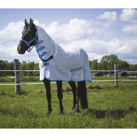 Manta antimoscas con cubrecuello para caballo Combo de RIDING WORLD