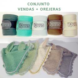Conjunto orejeras + vendas Iquus