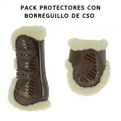 Conjunto de protectores con borreguillo de CSO