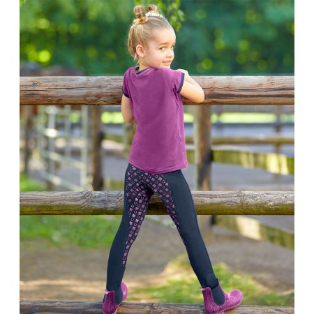 Legging / malla para montar Lucky Viola para niños de Waldhausen