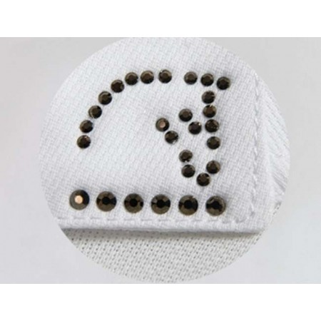 Polo manga larga con cuello mandarín y botones, interior cuello y puños tonos marrones de Razza Pura