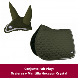 Pack de Mantilla y Orejeras Hexagon Crystal de Fair Play