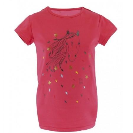 OT Camiseta de Manga Corta Beauty de Equi-Kids 8 Años