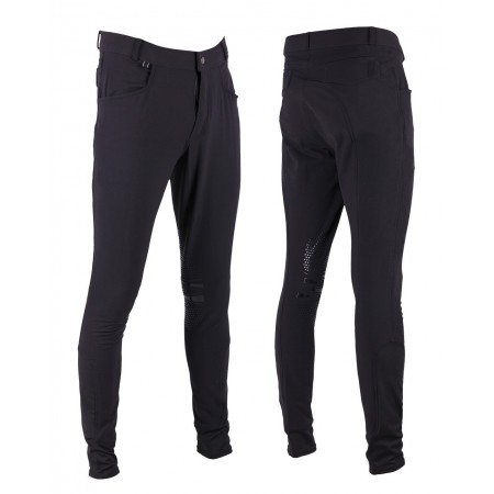 Ot Pantalones De Equitacion Luc Para Hombre Con Grip De Rodilla De Qhp