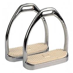 Estribos para silla de montar de acero cromado