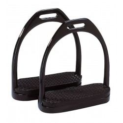 Estribos para silla de montar de acero barnizado