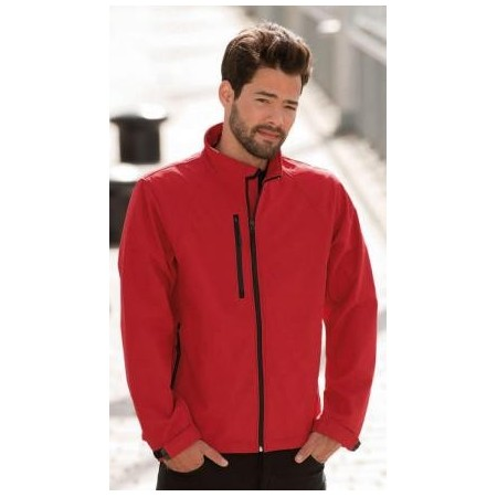 Chaqueta hombre Softshell impermeable y transpirable