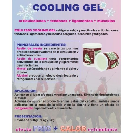 Gel de tendones para caballo Equi 2000 Cooling Gel