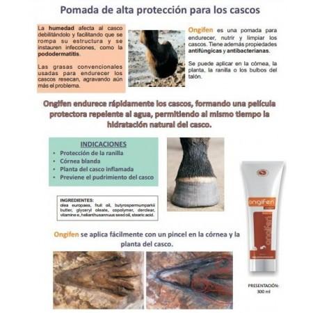 Ongifen, crema-ungüento 100% natural, fungicida y anti-humedad para sanear los cascos (300 ml)
