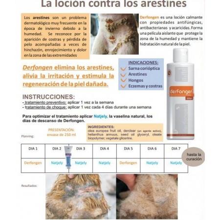 Derfongen, loción 100% natural contra arestines y hongos (250 ml)