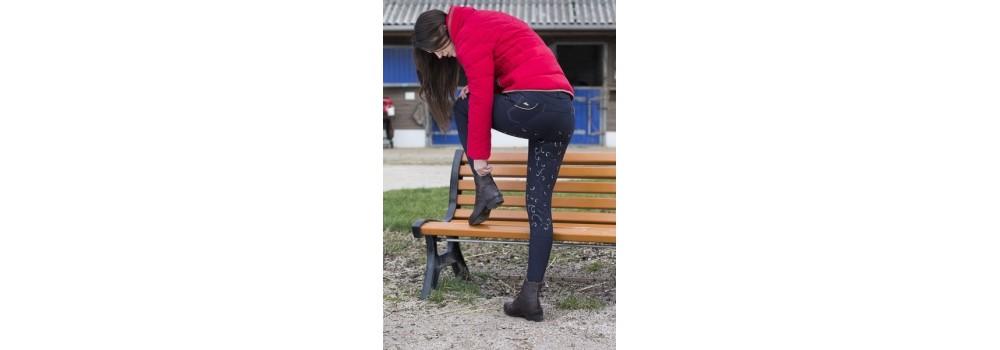Pantalones de Montar con Grip / Silicona